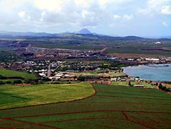Helicopter View of the Town of Hanapepe